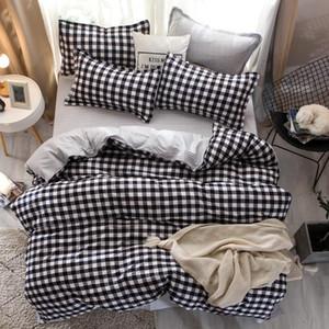 designer bed comforters sets High Quality Cartoon Bedding Set Bed Linings Duvet Cover Bed Sheet Pillowcases Cover Set 4pcs set
