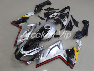 TOP Quality Injection Molding New ABS Fairing kit Fit for Aprilia RS125 125 2006 2007 08 09 10 2011 RS4 Custom Silver Black