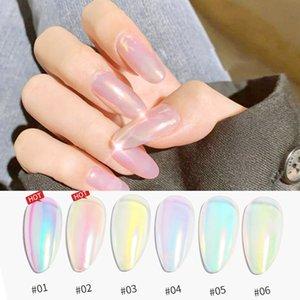 NEW Aurora Powder Mermaid Shell Neon Flash Chrome Unicorn Color Laser Magic Mirror Pigment Dust Manicure For Nail art Pink DIY