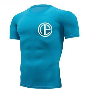 Gym t-shirt jogger Chemise sport Hommes Fitness Course Chemise homme à manches courtes Fit Dry train T Mens Rashgard sport