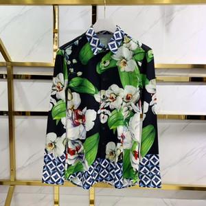 2020 Frühjahr neue Art und Weise Mensentwerfer Digitaldruck-Shirts ~ chinesische Größe Shirts ~ gute Qualität Mensentwerfer Langarm-Shirts