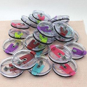 tapas de sellado de silicona hotsale para la cubierta 20 onzas taza de 30 onzas tazas de plástico tapa paja 20 30 tapas de sellado de plástico a prueba de derrames casquillo libre de DHL