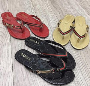 2020 Leather Thong Sandal Women Luxury Slippers Fashion Thin Black Flip Flops Brand Shoes Sandals Flippers Shoes Sandals Flipflops