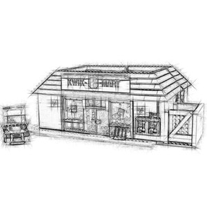 Roi 83004 16004 Les Simpsons Kwik-E-Mart Model Building Blocks Set compatible avec 71016 Briques Film Architecture Décors pour enfants Jouets cadeau