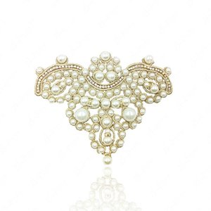 Korean version of pearl small crown fashion shoes flower DIY handmade shoe jewelry popular pearl shoe buckle shoe accessories