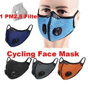 Reutilizável Máscara Facial Máscaras Biking Anti Poeira cara moto com Carvão Ativado Mulher Running Man Máscara Ciclismo Anti-Poluição Rosto Bicicleta 1 Filtro