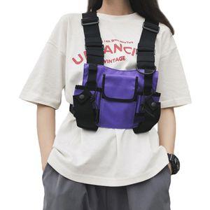 Unisex Functional Waist Packs Adjustable Tactical Shoulders Bags Chest Rig Bag Streetwear Pockets Waistcoat Men