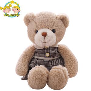 38 cm los amantes lindos del oso de peluche juguetes de peluche encantador macho y hembra oso de peluche parejas muñecas Kawaii regalo de cumpleaños para niñas
