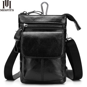 MISFITS Messenger Bag en cuir véritable des hommes Vente chaude Homme Sacs épaule bandoulière Casual Voyage New Taille Packs Homme Sacs à main