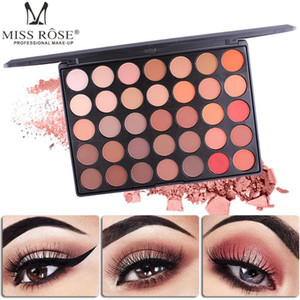 Palette per ombretti Miss Rose 35 colori Palette per trucco Lucentezza opaca Brillante Trucco colorato Set di ombretti Cosmetico