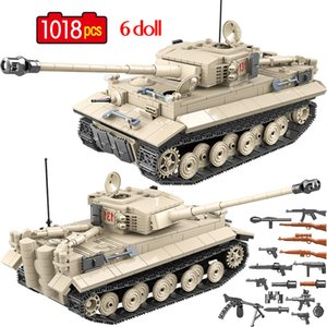 1018 Pcs Military German Tiger 131 Tank Building Blocks Army WW2 Soldier Weapon Bricks Education Toys for Boys