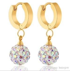 Pendientes Mujer Pendiente de gota chapado en oro rosa de 18 quilates Pendiente de gota de cristal austriaco Pendientes de perlas plateadas de plata esterlina 925 Pendientes