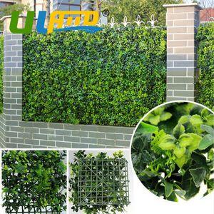 ULAND En Plastique Vert Arbustes Décoratifs Tapis Artificielle Lierre Clôture Balcon Proof UV Buis Couvertures Jardin Jardin Intérieur Sous-Sol Décoration