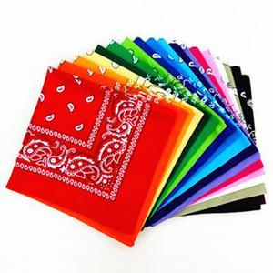 54 * 54CM de la novedad floral de algodón estampado de cachemir Pañuelos Pañuelos vaquero Bandana Paisley del cabezal de impresión bufanda del abrigo LJJA4121