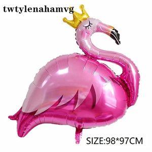 Regali dei bambini 50pcs bambino giocattoli nuovi Flamingo Balloons Albero Foil FESTA NUZIALE Estate 's Day Decor gonfiabile dell'elio Balls