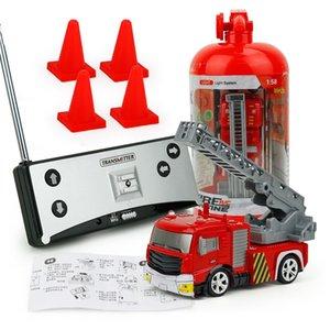 2019 NEUE Kinder RC Fire Engine Fernbedienung Löschfahrzeug mit Tank / Ladder Blinklicht Y200413
