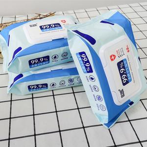60pcs / caja de desinfección Dipe antiséptico toallitas de alcohol hisopos toallitas húmedas de la piel Cuidado de limpieza de limpieza Esterilización de primeros auxilios caja de pañuelos