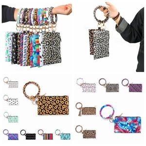 Bilezikler Anahtarlık cüzdan Bileklik Keychian Leopar Bilezik asın Cüzdan Anahtarlık Bileklik İçin Kadınlar Kızlar Coin Çanta Makyaj Bag100pcs T1I1787
