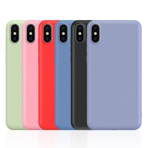 360 Full Cover Nachgeahmte Flüssigsilikon-TPU für iPhone 11 Pro X XS Max XR 8 7 6 Samsung S7 Edge-S8 S9 S10 5G Plus-S10e Hinweis 9 10 10 +
