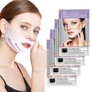 Elaimei Estilo Orelha em Forma de V Máscara Facial Máscara 3D V-Line Lifting Firming Máscara Facial Aperte o queixo bochecha Reduzir o inchaço 4 pçs / set