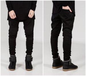Moda Erkek Jeans 2020 Yeni Tasarımcı Erkekler Kırışıklık Skinny Küçük Ayaklar Mikro elasticmen Jeans Yıkanmış 3 Colores Seçilmiş Boyut S-4XL-2