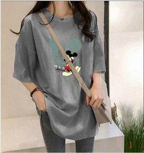 2020 New Fashion Womens Designer T-shirts Summer Loose Breathable Plus Size Womens Cloths Carton Style Mouse Print Cloths PH+ZY20042403
