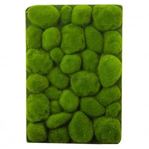 30x50cm Forma de piedra Alfombra de hierba de musgo Césped artificial verde para interiores Alfombras de césped Moss de césped falso para el hogar balcón de la pared del hotel Decoración