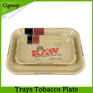 원시 트레이 롤링 트레이 금속 담배 흡연 롤링 트레이 담배 판 3 크기 사용 가능한 흡연 액세서리