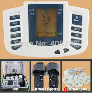 JR-309 le plus bas Nouveau électrique Stimulateur Full Body Relax massage Muscle, Pulse dizaines Acupuncture thérapie pantoufle + 6 pads électrodes