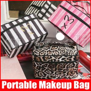 Макияж для хранения сумки нашивка Leopard Серпантин туалетного Организатор Держатель для путешествий Косметической сумки ретро Письмо Рекламного Cosmetic Make Up Bag