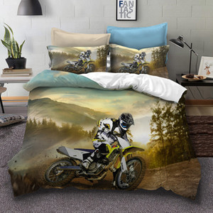 3d motorcycle bedding set Boy's gift duvet cover with pillowcase set twin size comforter Bed Set Drop Shipping