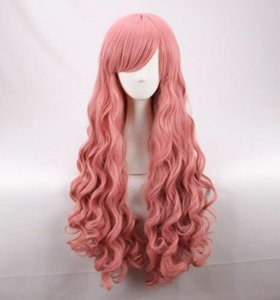no Tsukaima Louise 95CM Long Pink Wave curly Cosplay Wig a WIG CAP