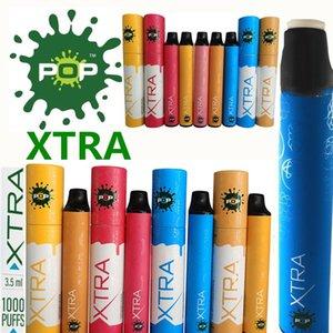POP XTRA dispositivo desechable de 3,5 ml de la batería 550mAh Kit cartuchos de vapor vainas 1000Puffs Vape pluma desechable palito de XTRA Pods Vape Carros vacíos