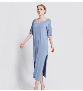 Backless Kısa Kollu Gevşek Kadın pijamalar Artı boyutu İç Geleneksel Kadın Tasarımcı Sleepshirts Seksi Stil Womens