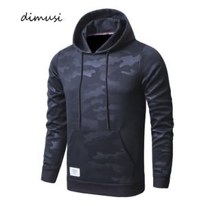 DIMUSI Primavera Mens Hoodies Casual Masculino Camuflagem moletom com capuz Coats Man Magro Sportswear Treino Hip Hop Hoodies Vestuário