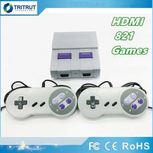 HDMI Out TV Game Console puede almacenar 821 juegos Video Handheld para consolas de juegos SFC con cajas de venta al detalle MQ50
