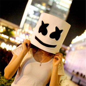 DJ Music Festival LED Luminous Helmet Mask Halloween Popular Cosplay Prop Party Bar DJ Masks Marshmallow Halloween Toys Dropshipping