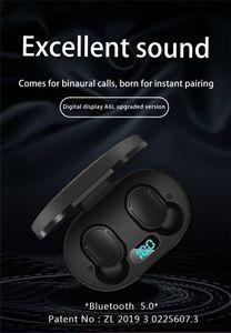 مصنع Wholesule لاسلكية سماعات A6L LED العرض بلوتوث V5.0 اللاسلكي الرياضة سماعات للحصول على Redmi XIAOMI آيفون هواوي سامسونج