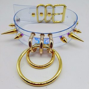 Coleira Sexy Harajuku collar Rebite torques metal spikes bullet o-round V191206