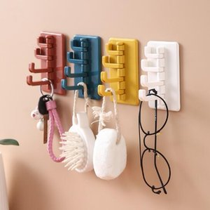 Creative rotating glue hook contrast Japanese style glue hook toilet kitchen wall non perforated paste hanger