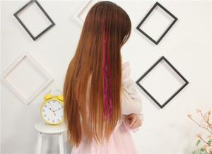 Bellavia Tinsel Extensions cheveux arc-en-bling chaîne 3D Secoration Pour synthétique Extension de cheveux Glitter Rainbow Party Filles