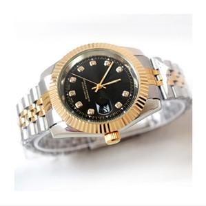 Reloj 험 브레 럭셔리 남성 시계 자동 달력 패션 브랜드 디자이너 남성 다이아몬드 시계 가죽 손목 시계의 새로운 태그 마스터 석영 시계