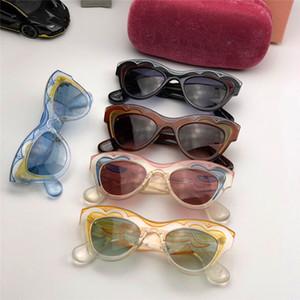New fashion designer sunglasses 07p colorful cat eyes ultra light frame popular models summer uv400 protection eyewear