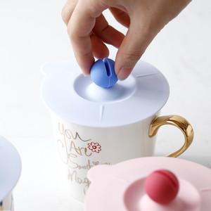 실리콘 컵 커버 리크 프루프 커피 뚜껑 기밀 밀폐 컵 커버 커피 컵 실리콘 방진 코팅 Drinkware Lid