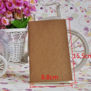 Kraft Write Notebook Unlined Travel Journals Fashion Brown White Blank Pages Kraft Cover Notebooks Writing Notebook Stationery