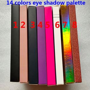 Marca 14 colores sombra sombra paleta shimmer mate ojo sombra belleza maquillaje 14 colores sombra de ojos paleta caliente