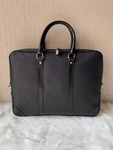 3 Farben 2019 Aktentasche Einfache Herren Dandy Aktentasche Slim Lederaktentasche Solide Large Business Mann-Tasche Laptop-Tasche Messenger Bag für Männer