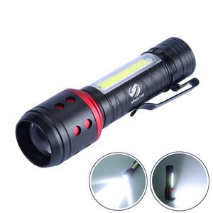 Portable MINI LED lampe de poche avec COB lumière latérale 4 modes d'éclairage perles de lampe d'éclairage XPF 150 mètres alimenté par des piles AA