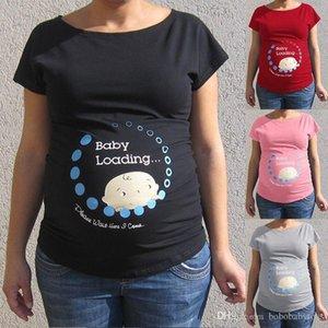 Pregnant Tees Pregnant Women Baby loading Tops Letter Print Blouse Short Sleeve Maternity TShirt Comfortable cotton short-sleeved T-shirt
