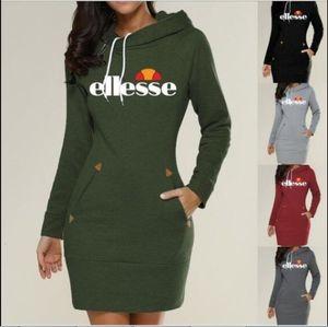 Итальянская мода Женская дизайнер платье с длинным рукавом Повседневная дамы O шеи платья Сплошной цвет Женские платья